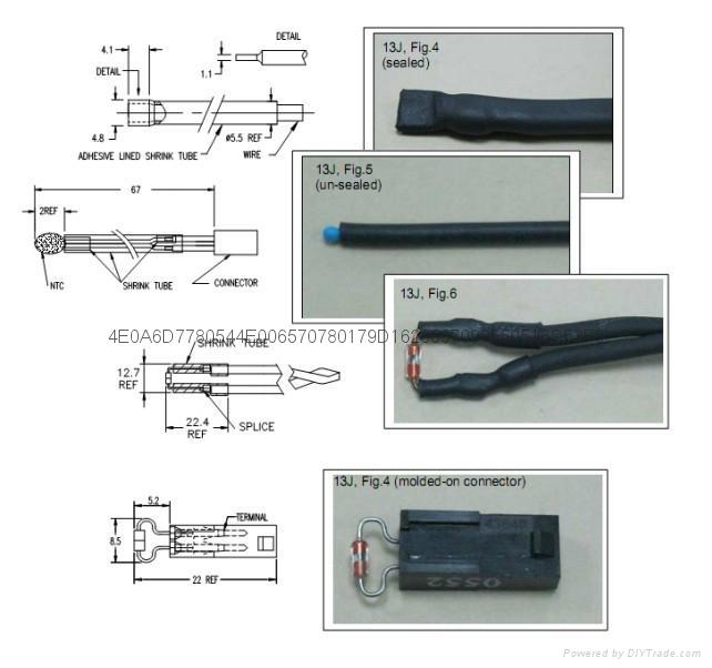艾默生新能源驅動電機NTC溫度傳感器 4