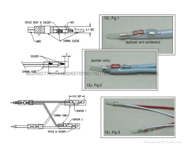 艾默生新能源驅動電機NTC溫度傳感器 3