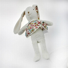 Cute plush rabbit toy with dress
