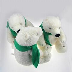 Plush stuffed polar bear toy