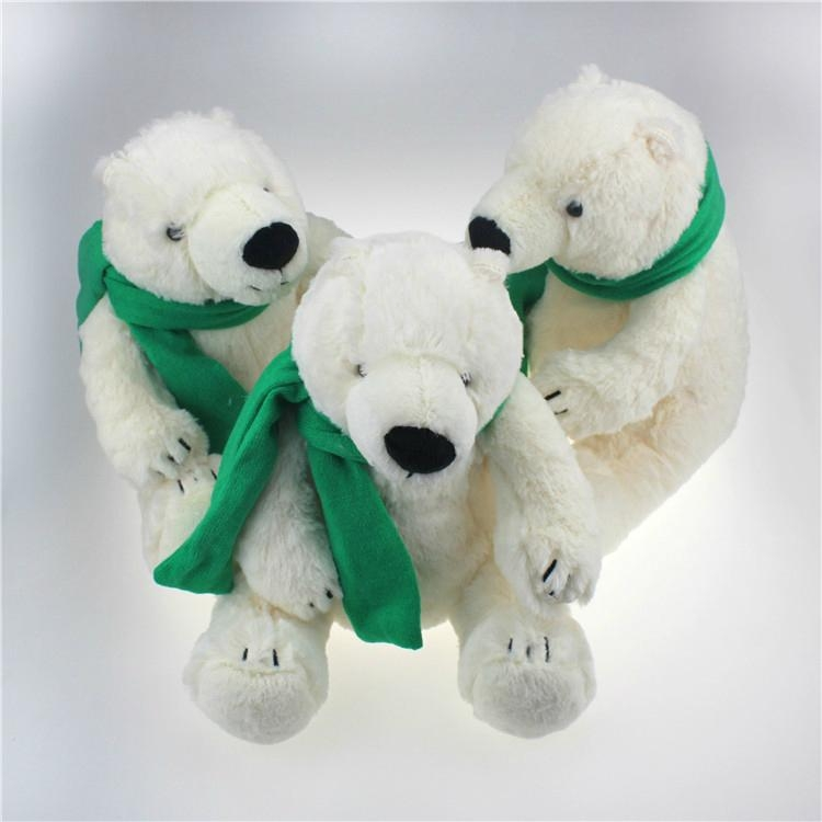 Plush stuffed polar bear toy 2