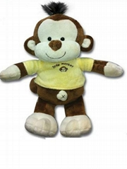OEM high Quality custom plush stuffed monkey toys