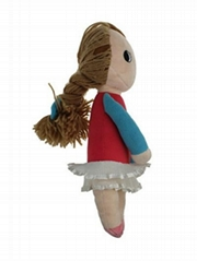 Plush stuffed  toy doll for girl