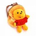 Soft plush animal backpack toy kids bag  3