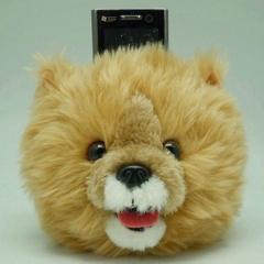 Plush phone holder