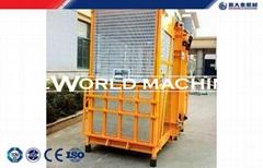 SC100 / 100 Double Cage passenger Hoist / Building elevator