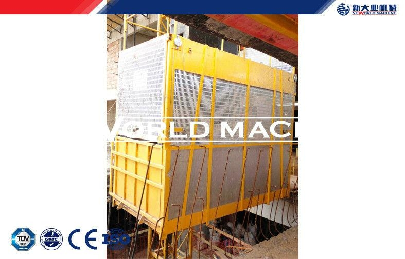 SC100 / 100 Double Cage passenger Hoist / Building elevator 2