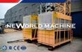 SC100 / 100 Double Cage passenger Hoist / Building elevator 3