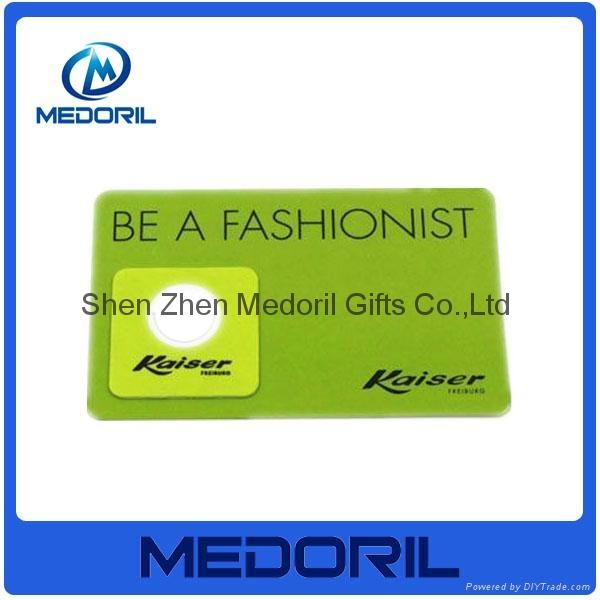 Custom design microfiber mobile phone screen cleaner sticker 1