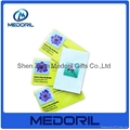 Custom design microfiber mobile phone screen cleaner sticker 2