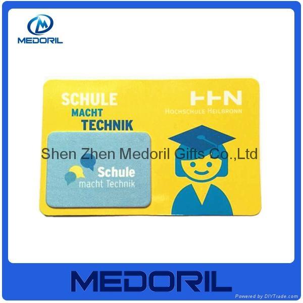 Custom design microfiber mobile phone screen cleaner sticker 5