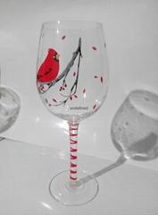 手工彩绘圣诞系列红酒杯