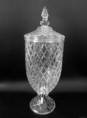 帶龍頭水晶玻璃儲物罐果汁桶