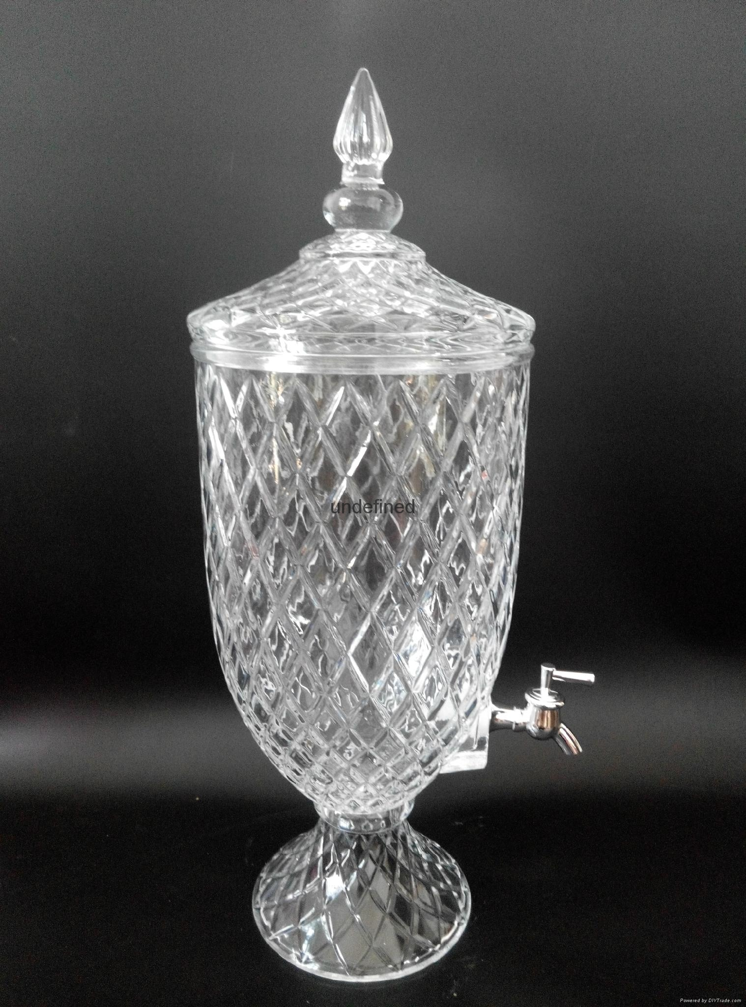 带龙头水晶玻璃储物罐果汁桶 3