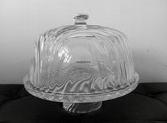 水晶玻璃蛋糕盘蛋糕罩