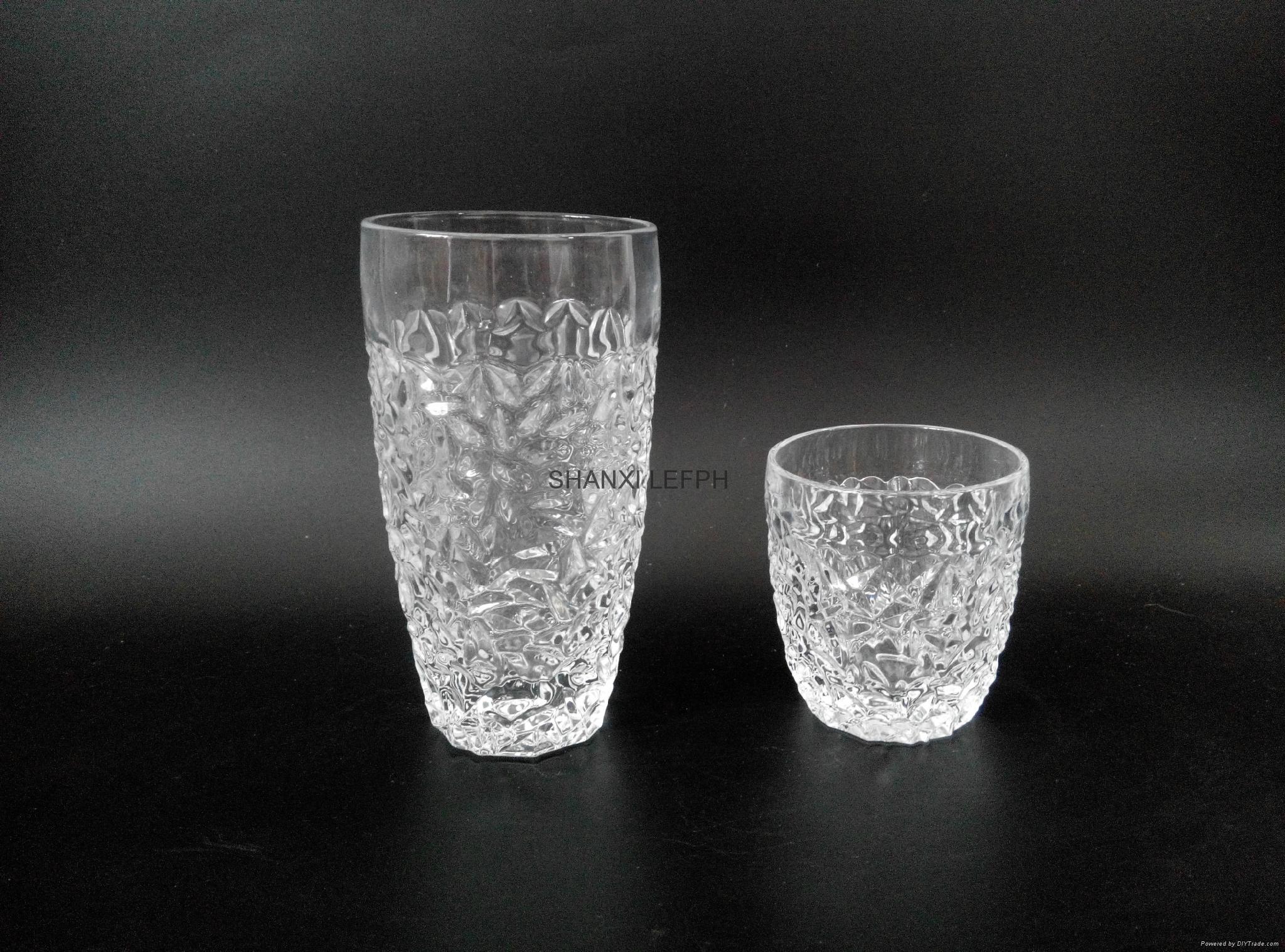 新款水晶玻璃果汁杯开水杯牛奶杯咖啡杯 2
