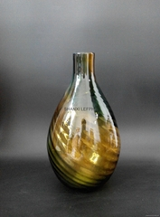 Custom color glass vase household adornment fashion vase