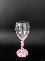 彩色粘珠红酒杯个性定制