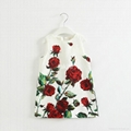 Autumn girl rose print dress