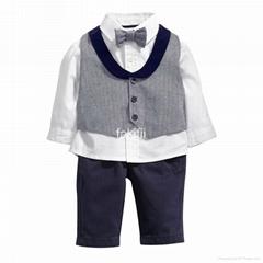 Autumn fashion boy grey clothes set