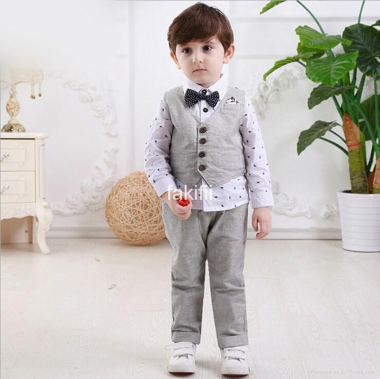 Autumn fashion boy clothes set 1