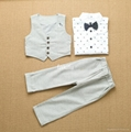 Autumn fashion boy clothes set 3