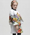 wholesale winter girl floral coat