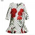 wholesale winter girl flower dress 2