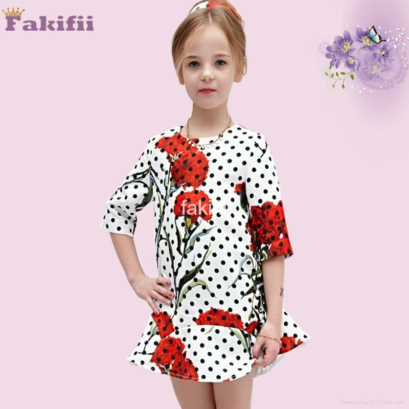 wholesale winter girl flower dress 1