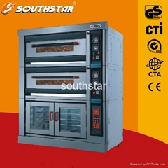 2 Deck 4 Trays Electric deck  Oven With Proofer