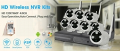8ch Network wireless WiFi NVR CCTV