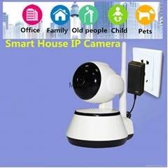 720P HD smart phone remote control home ip camera,plug and play