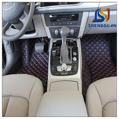 2015 new dsign Pu leather floor mats for cars non skid custom car floor mats