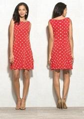 Ladies polka dot cheap party casual dress