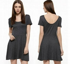 Ladies knit short sleeve party dress