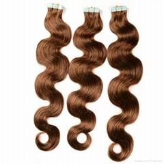 Hot sale 100% European Hair Tape Hair Extension Wavy Hair Tape Extensions
