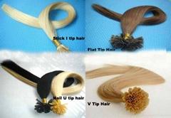 Double Drawn Virgin Russian Hair Flat Tip Hair Extensions