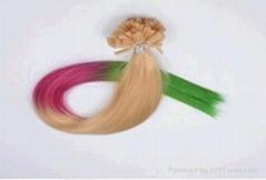 Human hair Keratin Hair Bonding Extensions Flat Tip Hair Extensions