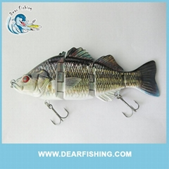 Fishing lure Bass 4 sections lure muti jointed fishing lures