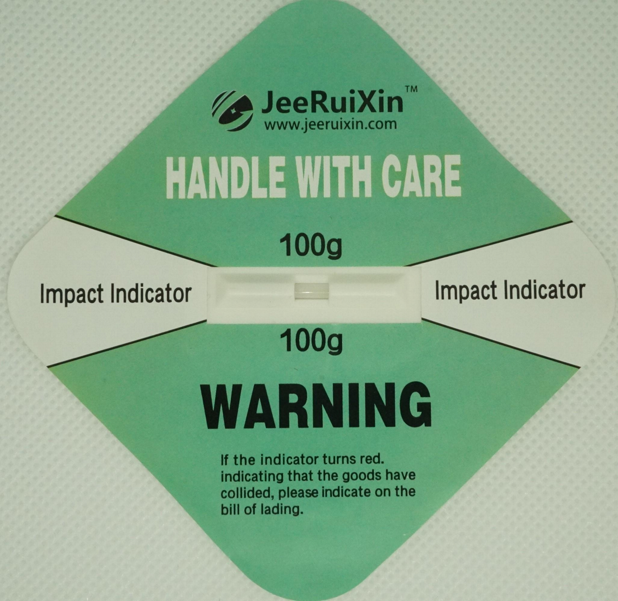 防震標籤外貿版本100g運輸監防碰撞標籤 4