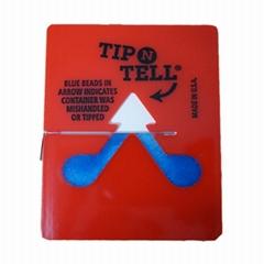 防傾斜標籤人字形防倒置標籤tip n tell原裝進口
