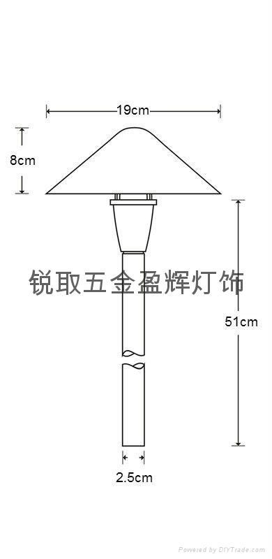 美式純銅草地燈P01 UL認証安全12V LED燈酒店庭院燈 3