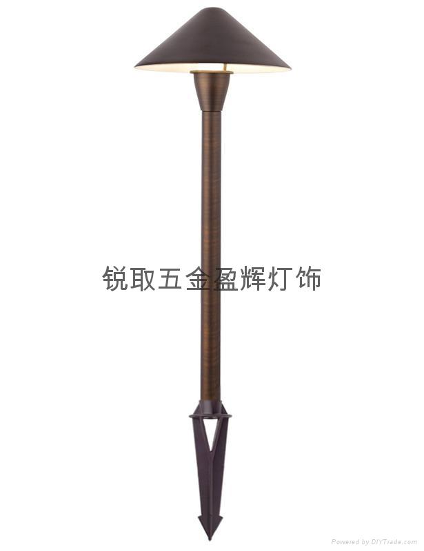 美式純銅草地燈P01 UL認証安全12V LED燈酒店庭院燈 1