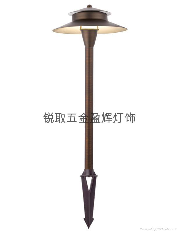 美式純銅草地燈P05 UL認証安全12V LED燈酒店庭院 2