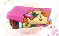 卡通圖案毛圈印花儿童蓋毯