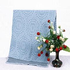 橢圓花邊割絨毛巾天然棉紗加厚加大毛巾