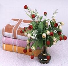多色条纹清新亮丽精致柔软毛巾