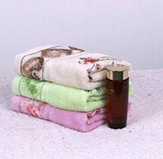 桃心花纹吸水柔软毛巾
