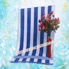 纯长城格纹柔顺透气绒面光滑毛巾