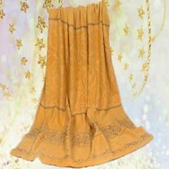 黄色花纹款式大气手感柔软亲肤毛巾